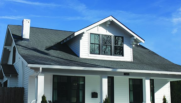 Black Trim with White Siding on LP SmoothSide