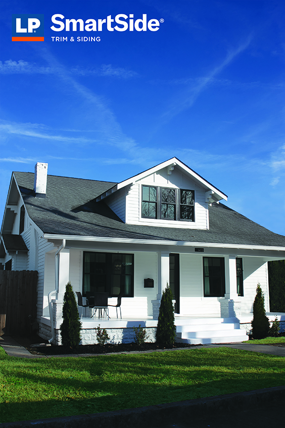 LP SmartSide Smooth Siding w/ Black Trim and White Siding in stock from Sprenger Midwest