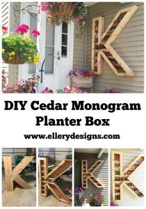 Monogram DIY Planter Box
