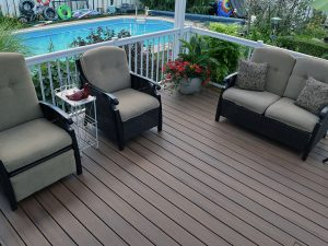 Armadillo Decking Patio in Campire