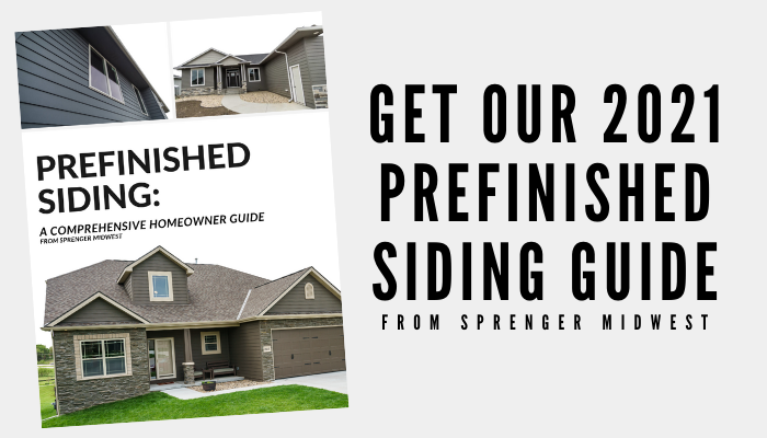 Sprenger Midwest Prefinished Siding Homeowner Guide