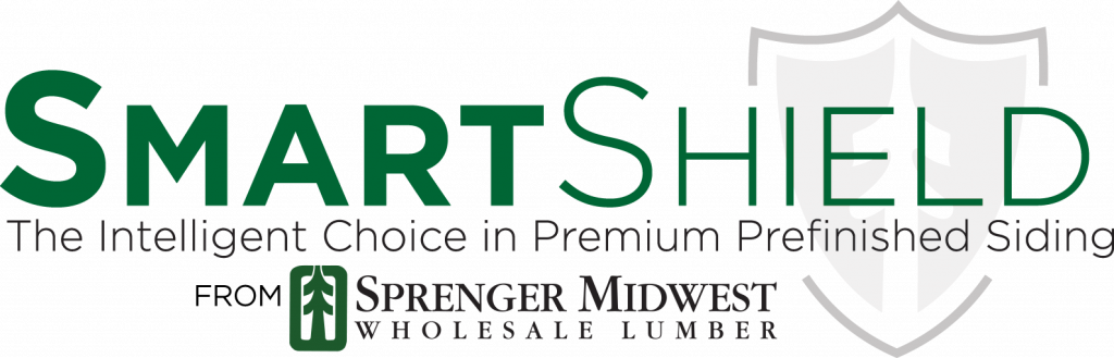 Prefinished Siding Logo | Smart Shield Siding Made With LP SmartSide by Sprenger Midwest