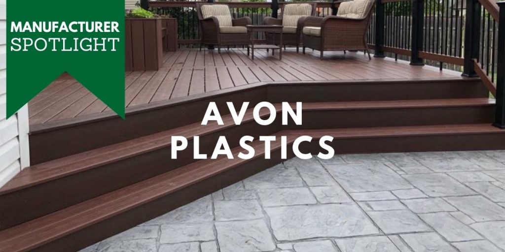 History of Avon Plastics Manufacturer of Armadillo Composite Decking Stocked by Sprenger Midwest